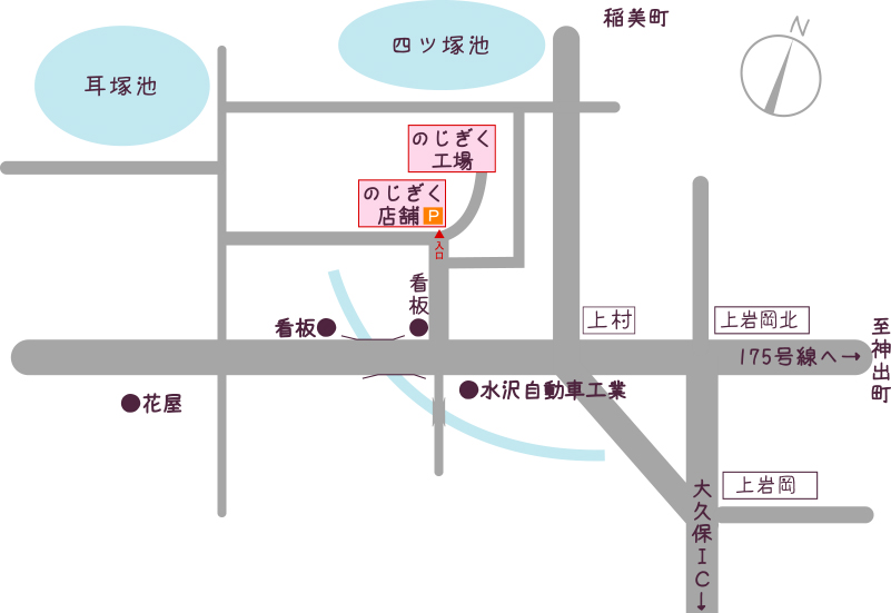 のじぎく略地図